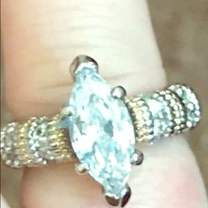 Size5 925 sterling silver cubic zirconia ring